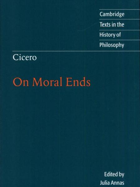 Cicero On Moral Ends book cover