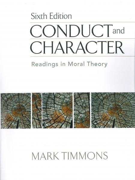 Conduct and Character book cover with tree rings in the center