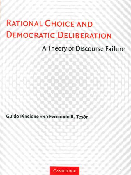 Rational Choice and Democratic Deliberation book cover