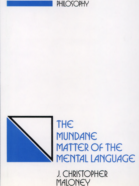 The Mundane Matter of the Mental Language book cover