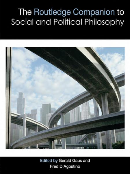 The Routledge Companion to Social and Political Philosophy book cover with high rise building and highways as the background