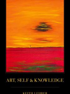 Art, Self and Knowledge Book Cover with a painting of sunset over the ocean
