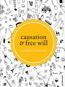 Causation and Free Will book cover with doodling in the background