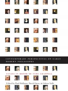 Contemporary Perspectives on Early Modern Philosophy book cover with portraits of past Philosophers in history