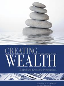 Creating Wealth book cover with a stack of stones