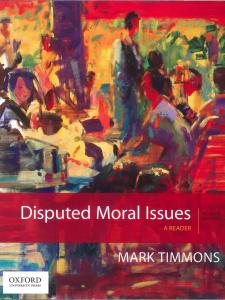Disputed Moral Issues book cover with a painting of a cafe scene