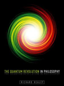 The Quantum Revolution in Philosophy book cover with red and green swirl in the middle