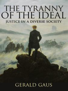 Tyranny of Ideal book cover with Wanderer above the Sea of Fog painting