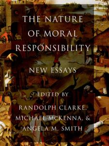 The Nature of Moral Responsibility: New Essays book cover with the painting of Flemish Proverbs in the background